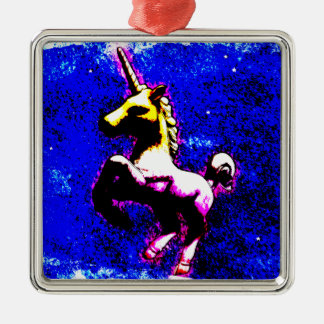 Unicorn Ornament - Square Premium (Punk Cupcake)