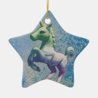 Unicorn Ornament - Star (Blue Arctic)