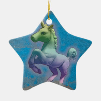 Unicorn Ornament - Star (Blue Nebula)