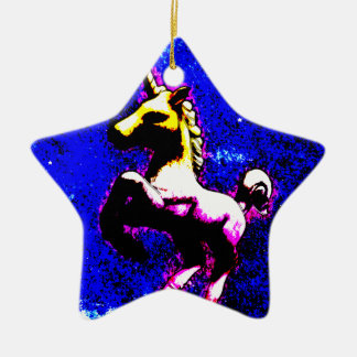 Unicorn Ornament - Star (Punk Cupcake)