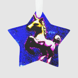 Unicorn Ornament - Star Ribbon (Punk Cupcake)