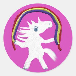 Unicorn Pacifier Round Sticker