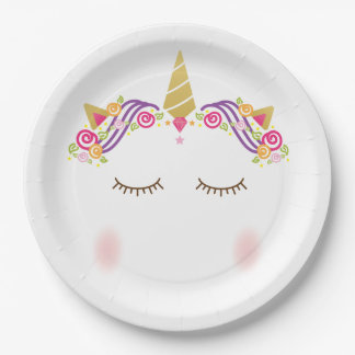 Unicorn Paper Plate