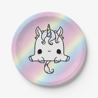 Unicorn Paper Plates (Customise) 7 Inch Paper Plate