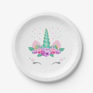 Unicorn Paper Plates, Unicorn Party Plates