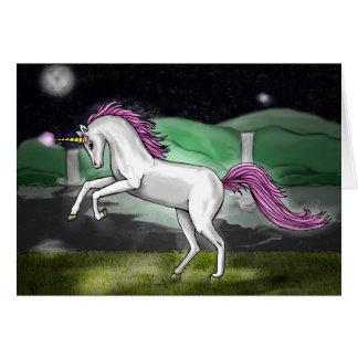 unicorn paradise greeting card