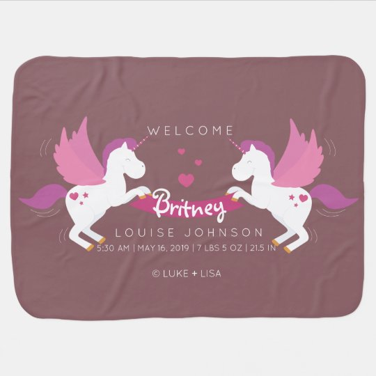 Unicorn Parents Welcome Baby Girl Birth Stats Baby