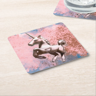 Unicorn Party Coasters (Faded Sherbet)
