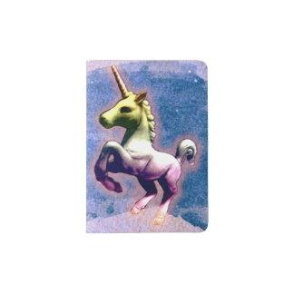 Unicorn Passport Holder Cover (Burnt Blue)