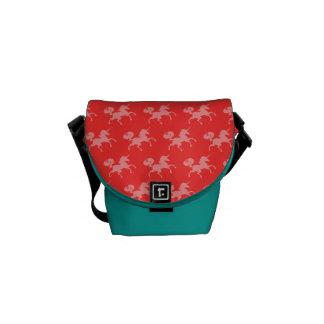 Unicorn Patterned Messenger Bag