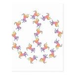 Unicorn Peace Postcard