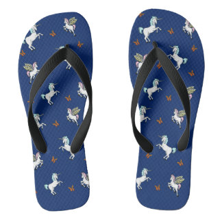 Unicorn, Pegasus and Butterfly Flip Flops