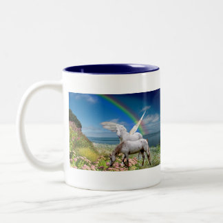 Unicorn & Pegasus left handed mug