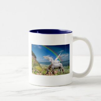 Unicorn & Pegasus Two-Tone Coffee Mug