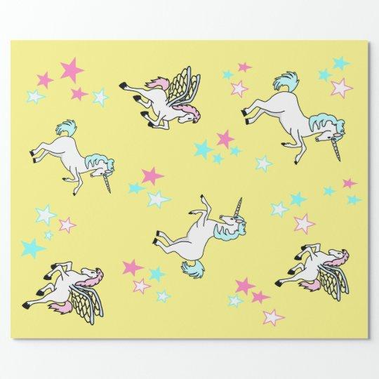Unicorn Pegasus Wrapping Paper