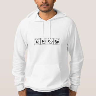 UNiCoRn Periodic Table Elements Word Chemistry Hoodie