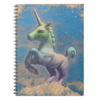 Unicorn Photo Notebook 80 Pages (Sandy Blue)