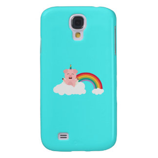 Unicorn Pig on cloud Q1Q Galaxy S4 Case