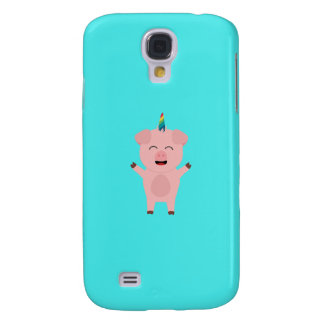 Unicorn Pig with rainbow Q1Q Galaxy S4 Case