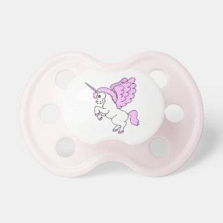 Unicorn Pink and White Dummy