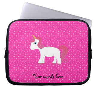 Unicorn pink stars laptop sleeve