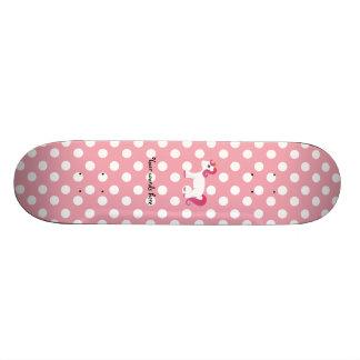 Unicorn pink white polka dots skate board