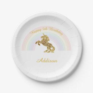 Unicorn plates for birthdays