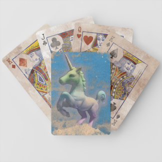 Unicorn Playing Cards Bicycle (Sandy Blue)