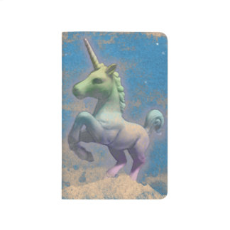 Unicorn Pocket Journal (Sandy Blue)