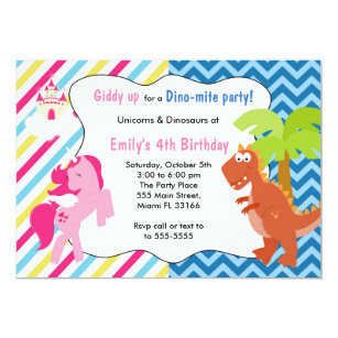 Dinosaur Invitations Announcements Zazzlecouk