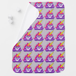 Unicorn Poop Purple Emoji Baby Blanket