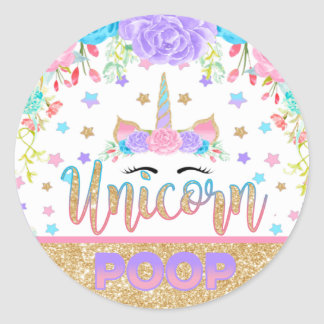 Unicorn Poop Sticker Unicorn Birthday Party Favor