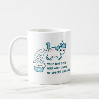 Unicorn Pooping on Cupcake Coffee Mug