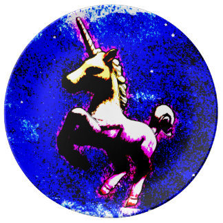 Unicorn Porcelain Plate Decor (Punk Cupcake)