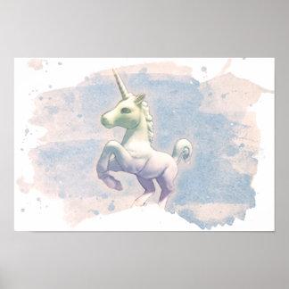 Unicorn Poster Art Print 16.5x11 (Moon Dreams)
