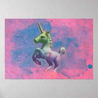 Unicorn Poster Art Print 19x13 (Cupcake Pink)