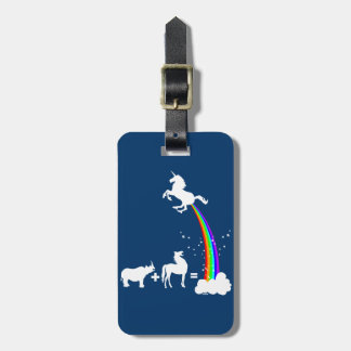 Unicorn power bag tag