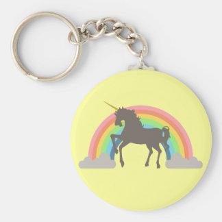 Unicorn Power Basic Round Button Key Ring