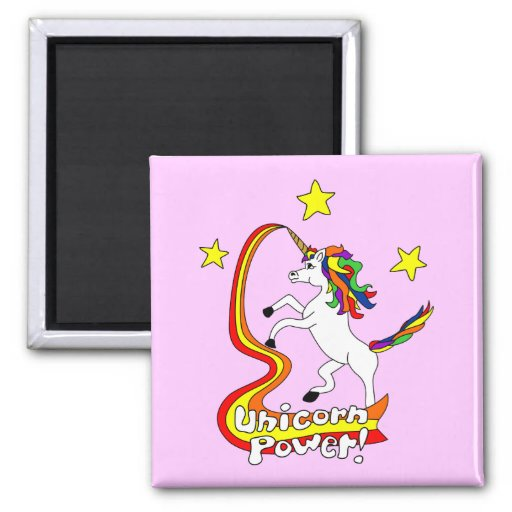 Unicorn Power! Fridge Magnet