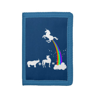 Unicorn power trifold wallets
