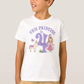 Unicorn Princess  4th Birthday T-Shirt