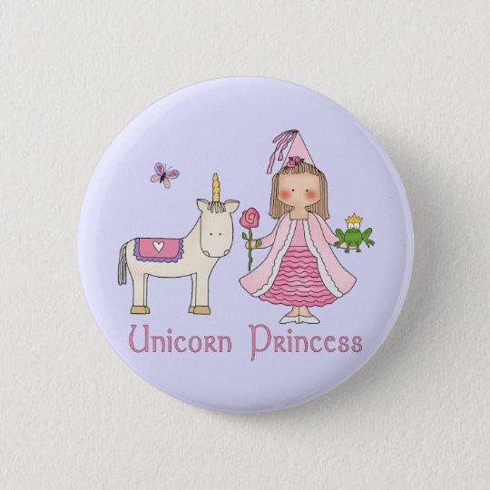 Unicorn Princess 6 Cm Round Badge