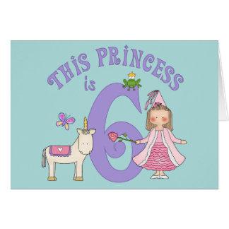 Unicorn Princess 6th Birthday Invitation