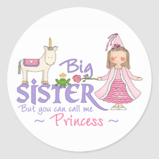 Unicorn Princess Classic Round Sticker