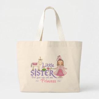 Unicorn Princess Little Sister Tote Bags