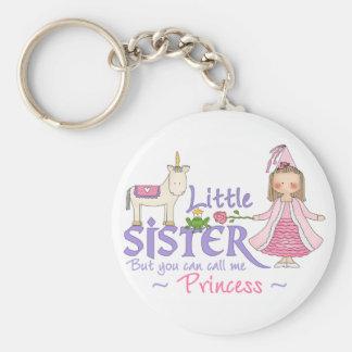 Unicorn Princess Little Sister Basic Round Button Key Ring