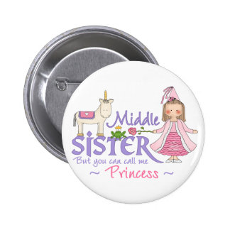 Unicorn Princess Middle Sister 6 Cm Round Badge