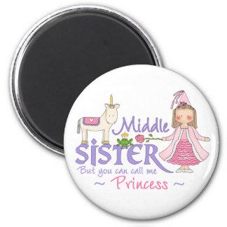 Unicorn Princess Middle Sister 6 Cm Round Magnet