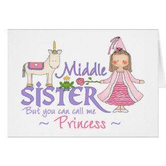 Unicorn Princess Middle Sister Greeting Card