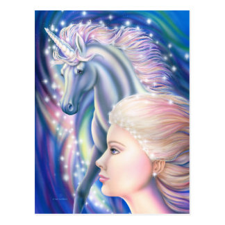 Unicorn Princess Postcard